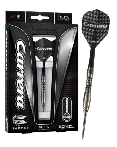 22g Target Carrera C10 Steel Tip Tungsten Darts Set Pixel Grip