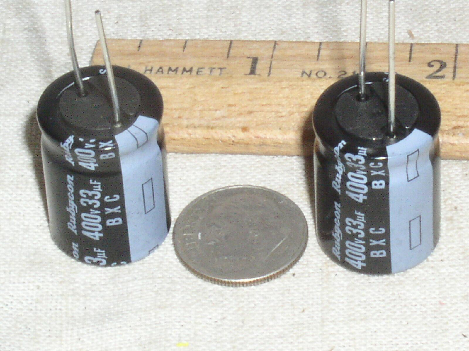 50pcs 10uF 450V 10x16mm Rubycon BXF 450V10uF Miniature Electrolytic capacitor