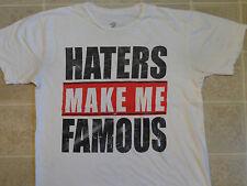 2 MONKEYS Haters Make Me Famous T-SHIRT Mens MED Thin White DGK UNDFTD DTA FMS M