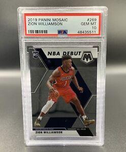 Zion Williamson *PSA 10* RC 2019 Panini Mosaic #269 New Orleans Pelicans NBA