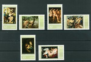 East-Germany-1977-Peter-Paul-Rubens-full-set-of-stamps-Mint-Sg-E1944-1949