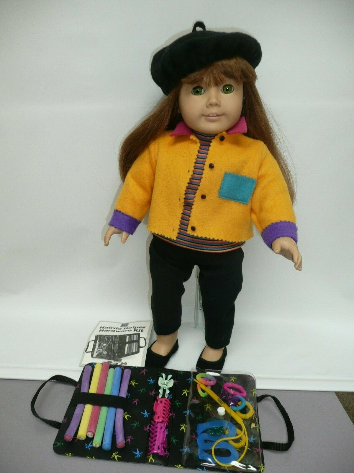 Pleasant Company Grün Eyed American Girl 1996 in First Day Outfit w Hair Access