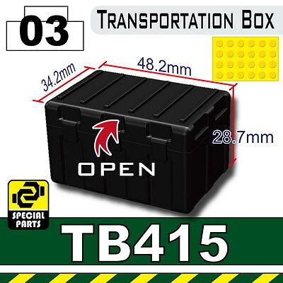 Army Tactical Box compatible w//toy brick minifigures Biohazard Box TB415 W241