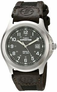 Timex-Men-039-s-Expedition-Metal-Field-Watch-Black-Brown-Charcoal