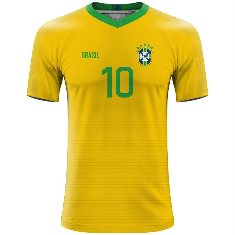 21ae3eee3 FIFA WORLD CUP 2018 Brazil Football Fan Jersey NEYMAR CASEMIRO ...