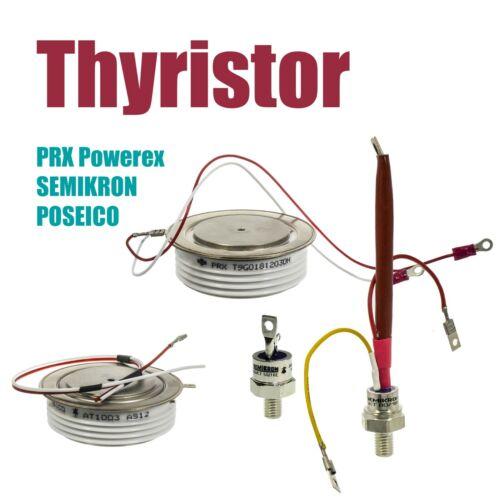 POSEICO AT1003AS12 1600V, 1648A; SEMIKRON SKKT57B12E, PHASE CONTROL THYRISTOR