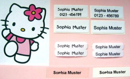 ★★S E T   Wäscheschilder Namensschilder Wäsche Kleidung mit Ihrem Wunschtext !!!