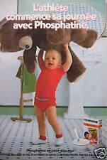 PUBLICITÉ 1980 L'ATHLETE COMMENCE SA JOURNÉE AVEC PHOSPHATINE - ADVERTISING