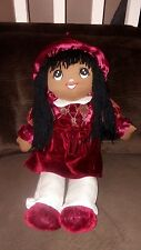 """Goffa 24"""" Girl Doll Plush Toy Brown African American Large"""