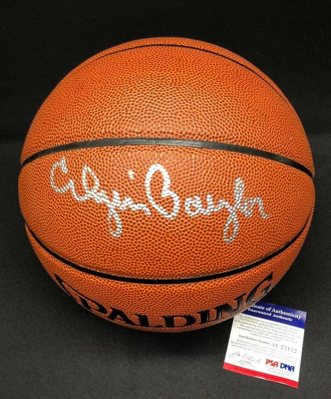 Elgin Baylor Signed Spalding I/O Basketball *Lakers HOF PSA 3A27132