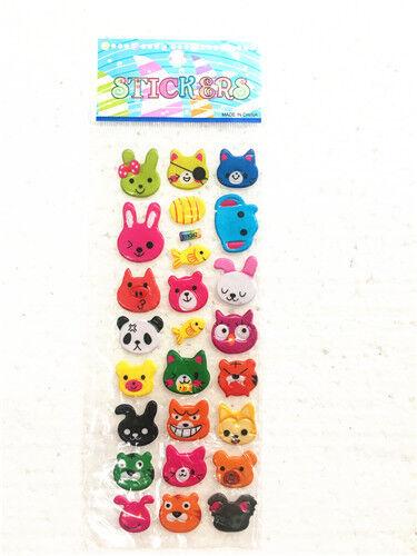 1 Sheet Animal Stereoscopic Puffy Bubble Wall Stickers Lot Kids/' Crafts Gift US