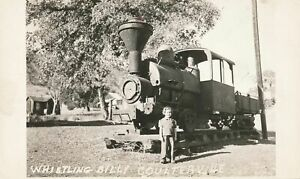 COULTERVILLE CA - Whistling Billy Real Photo Postcard rppc