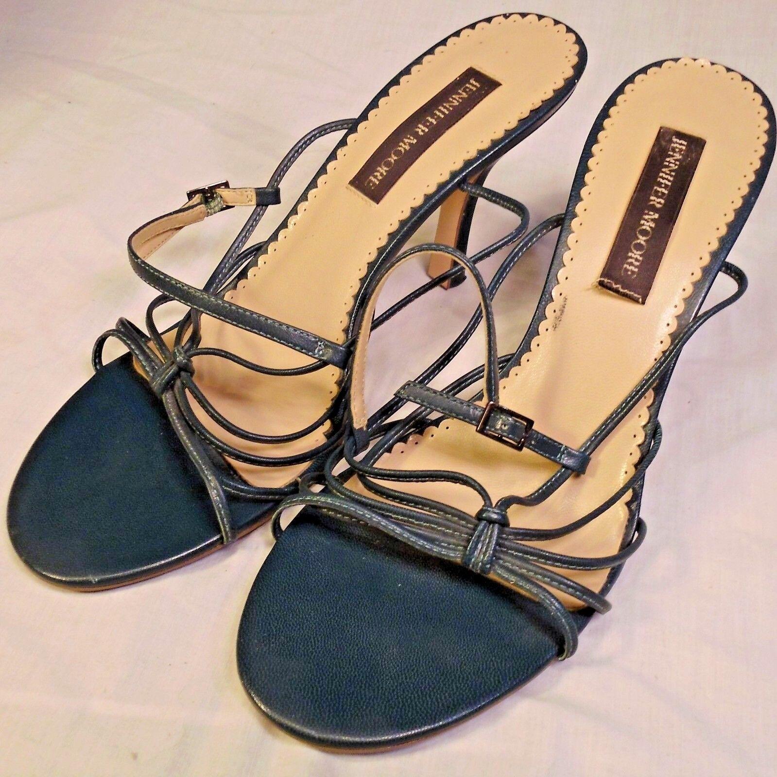 Jennifer Moore Sexy High Heels Saucy 9.5M Stilettos Green Strappy Open Toe Stilettos 9.5M Shoes 9c1e5e