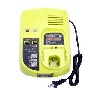 New-P117-Battery-Charger-for-Ryobi-ONE-18V-Ni-Mh-amp-Ni-Cd-amp-Li-ion-Battery-2-USB