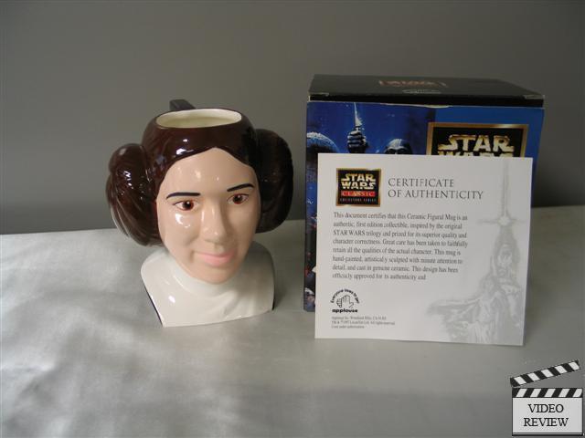 Princess Leia Ceramic Figural Mug Brand New Applause Star Wars; Carrie Fisher