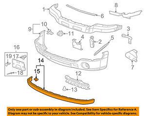 gmc gm oem 05 06 sierra 1500 front bumper extension panel 10386201image is loading gmc gm oem 05 06 sierra 1500 front