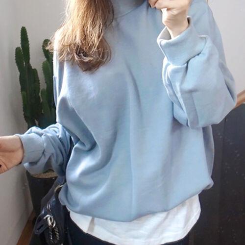 Plus Size Women  Hoodie Sweatshirt Ladies Candy Color Pullover Coat Jacket Tops