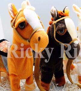 Walking Horse Pony Musical Singing Toy Plush Doll Saddle Riding Electronic