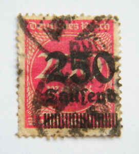 1923 Germany 200 Mk Overprinted 250 Thousand Used - St. Albans, United Kingdom - 1923 Germany 200 Mk Overprinted 250 Thousand Used - St. Albans, United Kingdom