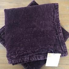 """New Pottery Barn Set of 2 Chenille Jacquard Pillow Cover 20"""" PLUM Purple  Velvet"""