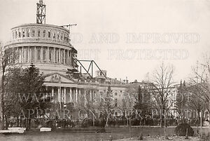 US-Capitol-construction-1861-Washington-D-C-Abe-Lincoln-inauguration-photos-lot