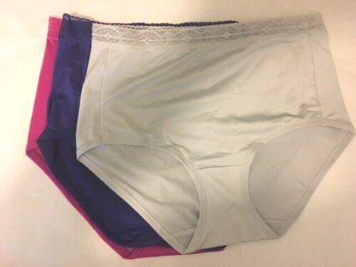 BREEZIES Nylon Microfiber Hi-Cut Panty w// Lace A308349-1 pair