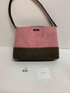 Kate-Spade-New-York-Sidney-657-Pink-Rose-amp-Brown-Bag-Purse-Adjustable-AH1913310