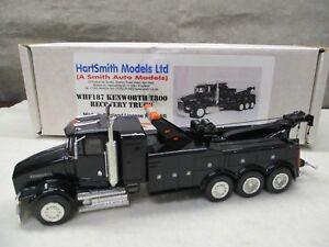 ASAM-Kenworth-T800-Recovery-Wrecker-Toe-Truck-Black-WHF187-1-48-HartSmith-Models
