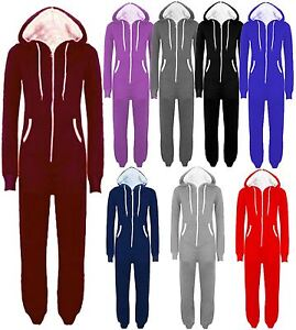 New Unisex Plus Size Hooded All In One Onesie One Piece Jumpsuits M Royal Blue