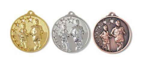 Massiv geprägte Medaillen Laufsport mit Band /& Text Staffelpreise 25-50-75-100