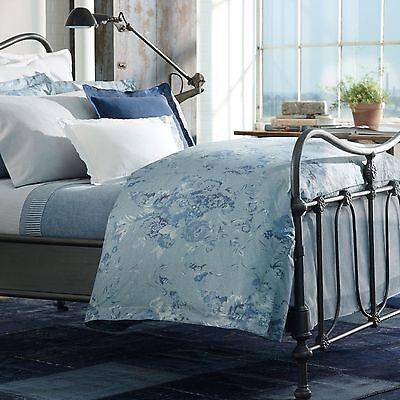 NIP Ralph Lauren Indigo Montauk Washed Blue Decorative Bed Pillow 18x18