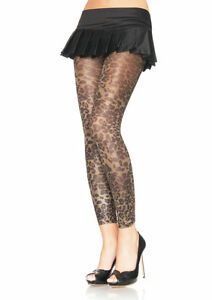 BEAUTIFUL-LEOPARD-GOLD-LUREX-SHIMMER-FOOTLESS-TIGHTS-METALLIC-BURLESQUE-GLAMOUR
