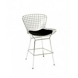 Awesome Details About Modern Bertoia Counter Stool With Seat Pad Wire Counter Beatyapartments Chair Design Images Beatyapartmentscom
