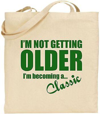 I'm Nicht Ältere Becoming Klassisch Groß Baumwoll-tragetasche Vater