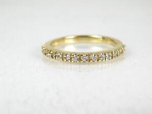 NEW-14k-Yellow-Gold-2mm-Natural-20ctw-Diamond-Ladies-Band-Ring-2-5g-eb2123