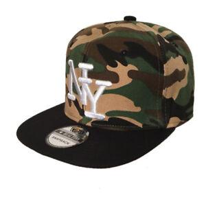 Snapback NY NEW YORK Basecap Cap Kappe Mütze CAMOUFLAG neu 19233
