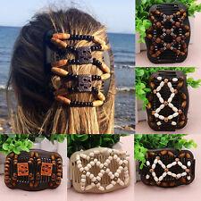 Trend African Hairclip Haarklammer Haarspange Haarkamm Holz Perlen Comb