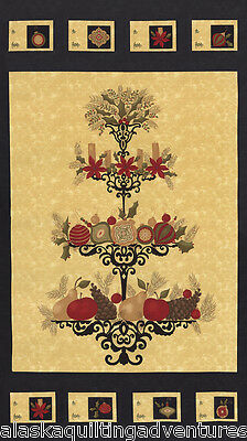 "17770 12 Moda FABRIC Quilt Panel ~ PINE FRESH ~ by Sandy Gervais 24/""X 45/"""
