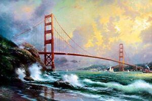 Thomas-Kinkade-Golden-Gate-Bridge-San-Francisco-12x18-Framed-Classic-Edition