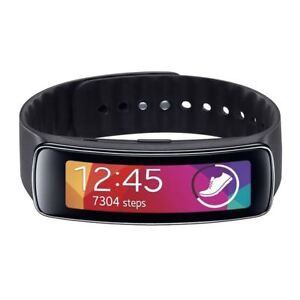 Used-Samsung-Gear-Fit-R350-Fitness-Watch-in-Black-with-Large-Band