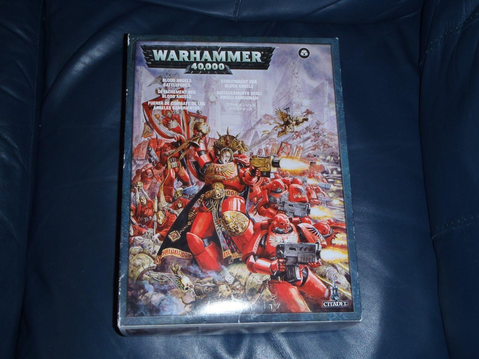 Warhammer 40k Blood Angels Battleforce Set - Figues + Vehicle  (Contents Unused)