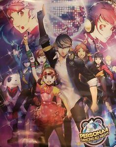 PERSONA-4-DANCING-ALL-NIGHT-Game-Promo-Poster-Exclusive-Gamestop-Rare