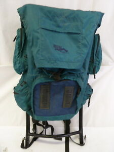 image is loading ridgeway kelty turquoise external frame hiking backpack - External Frame Hiking Backpack