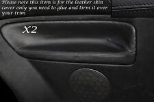 BLACK STITCH 2X REAR DOOR CARD SKIN COVERS FITS VW GOLF MK4 IV JETTA 98-05 3DR