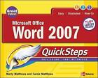 Microsoft Office Word 2007 QuickSteps by Marty Matthews (Paperback, 2007)