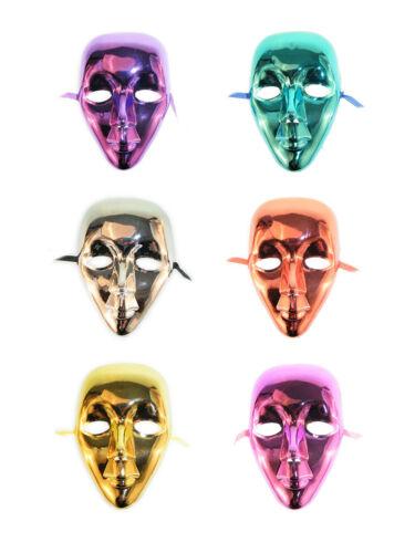 Maske Gesichtsmaske Metallic Metall Look Karneval Fasching