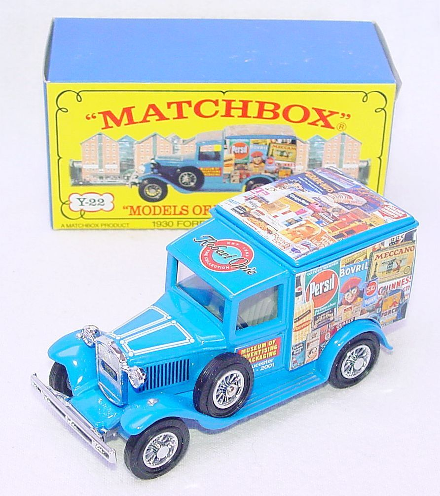 Matchbox Mica 1 43 FORD A  ADgreenISING MUSEUM  Model Car Mica Code-2 M15 MIB`02