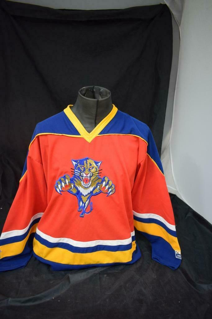 Vintage NHL Florida Panthers Wildcats IJshockey Shirt Jersey Grootte M Lot R75