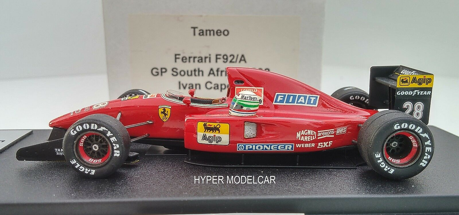 TAMEO KIT 1 43 F1 Ferrari F92A  28 28 28 Gp South Africa 1992 I. Capelli - Whit Helmet 39e98e