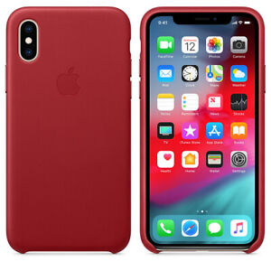 Genuine Original Apple Leather Hard Snap Cover Case For iPhone X